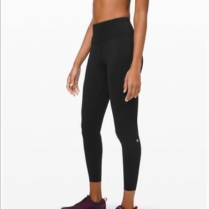 "Lululemon Fast and Free Tight II 25"" Black 6"